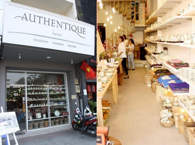 「AUNTHENTIQUE」の店舗外観と店内の様子