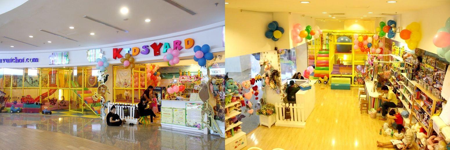 「KIDS YARD」の外観と店内の様子