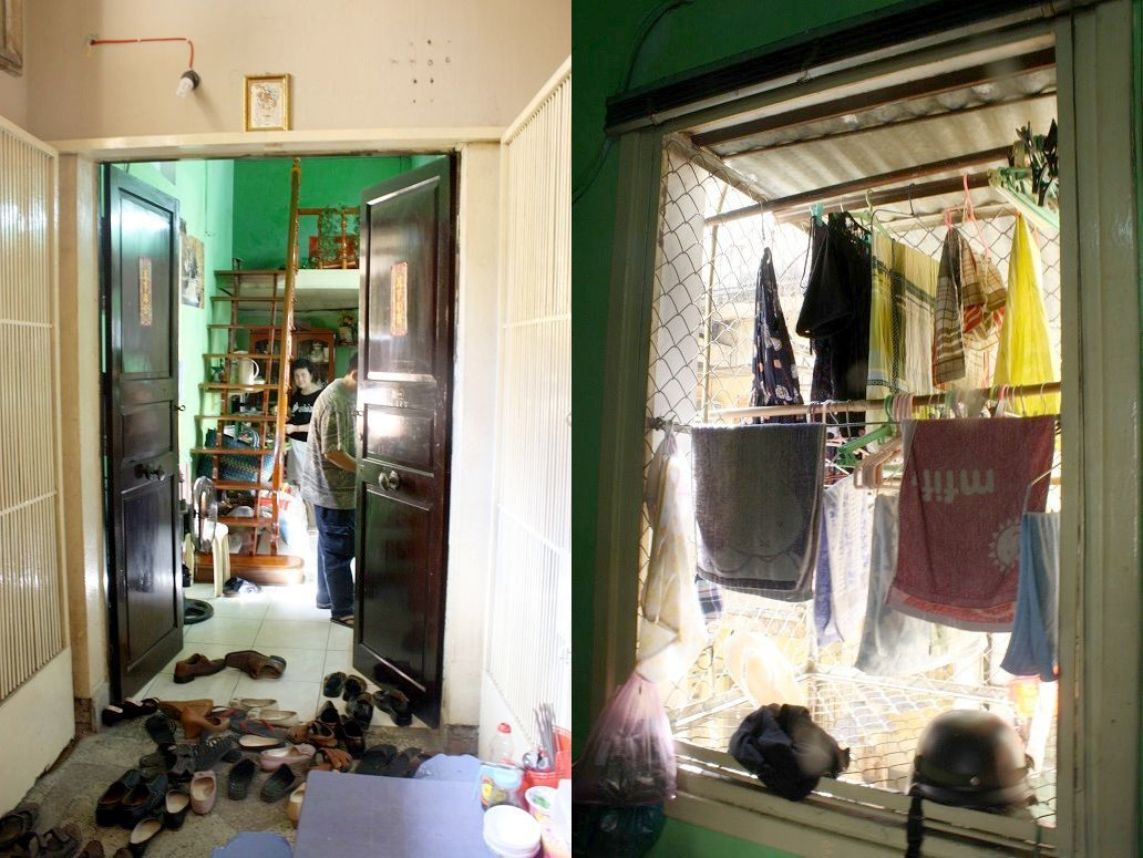 「Co Hanh」の入口と洗濯物