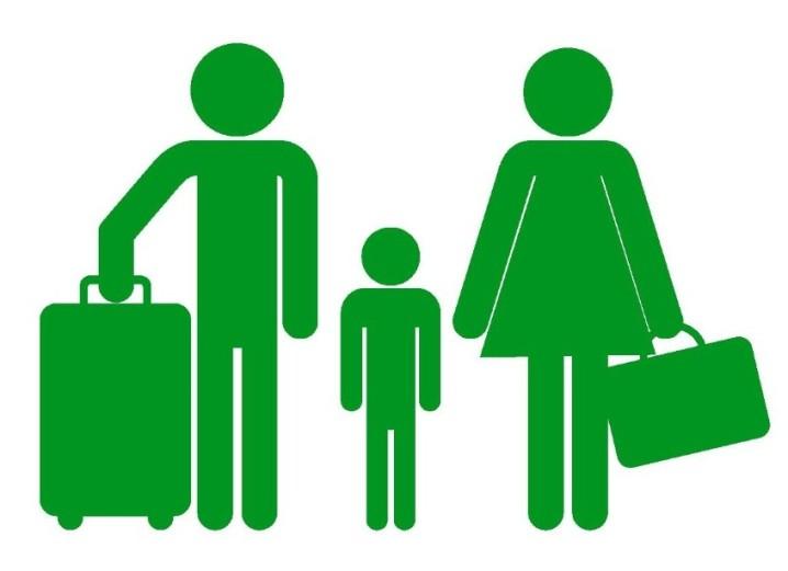 家族旅行のイラスト