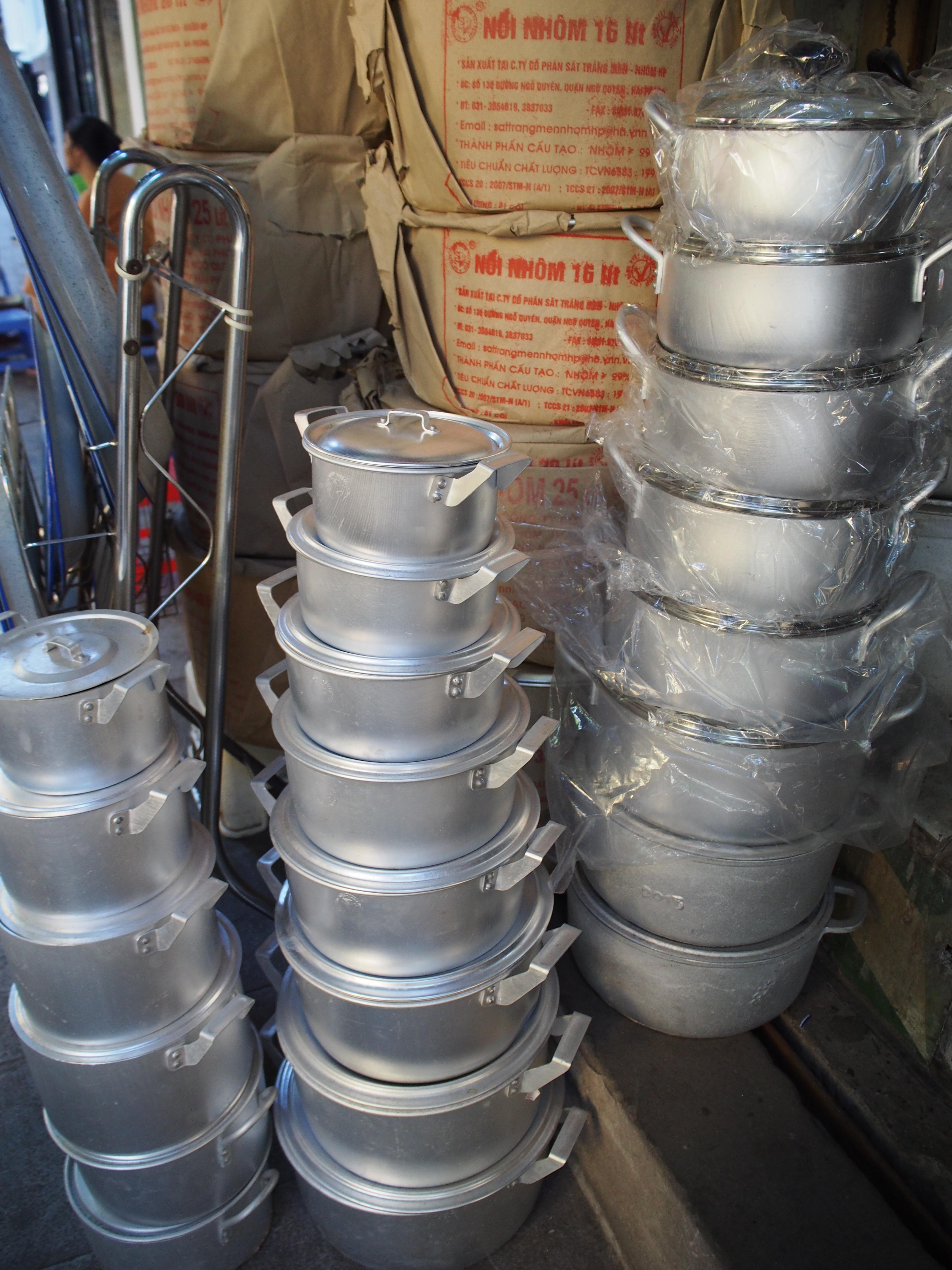 各種サイズのアルミ鍋