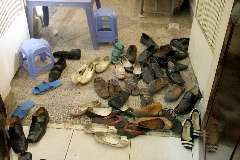 お客さんの靴