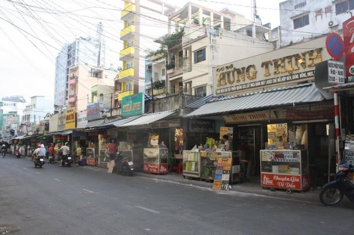 判子・ネームプレート屋街のルオンフーカン通り