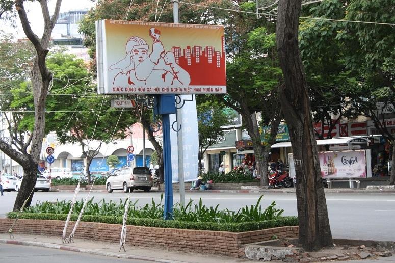街の至るところで見かけるプロパガンダポスター