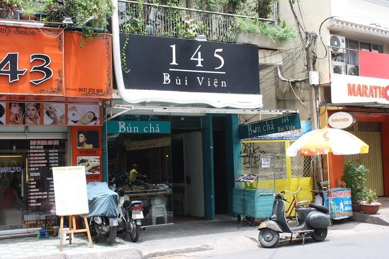 「Bun Cha 145 BUI VIEN(ブンチャー・145ブイビエン)」の店舗外観