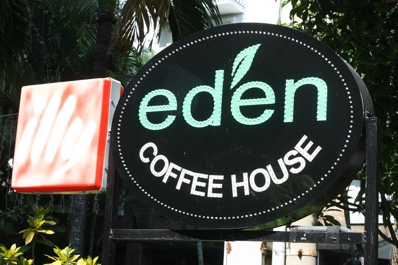 「eden COFFEE HOUSE」看板