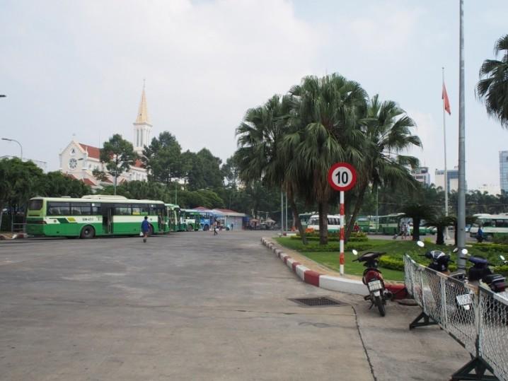 9月23日公園のバスステーション