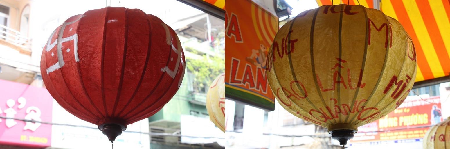 赤と黄色のランタン