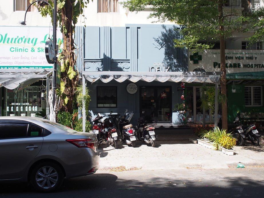 「Infuz」の店舗外観