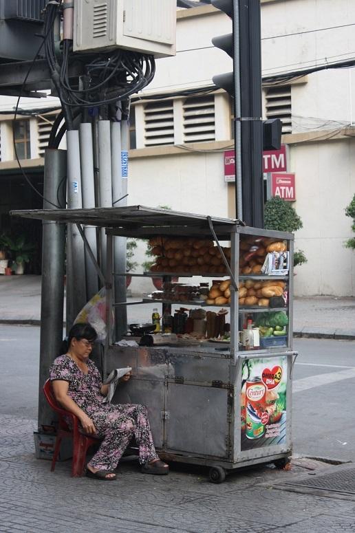 Annam Gourmet Market前の屋台