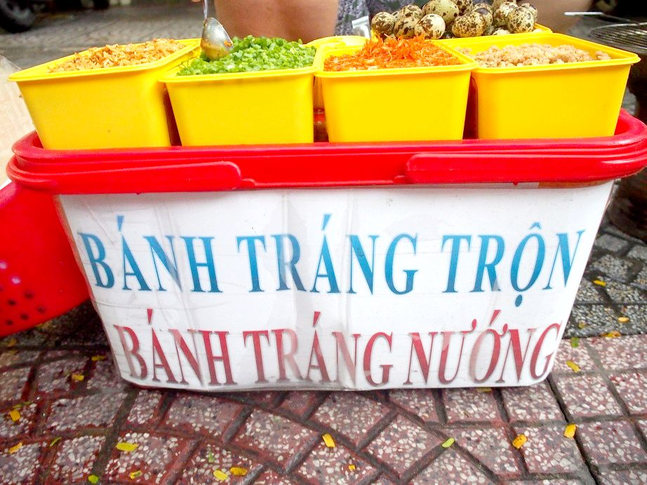 Banh Trang Nuongの屋台
