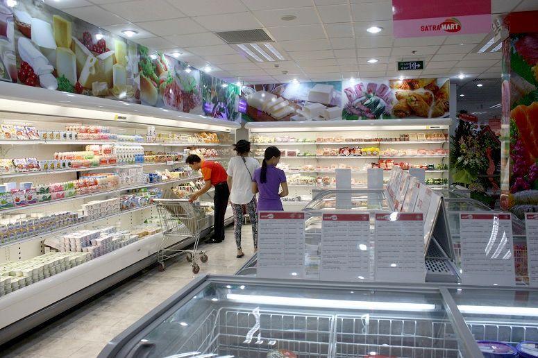 「TAXスーパー」の生鮮食品売り場