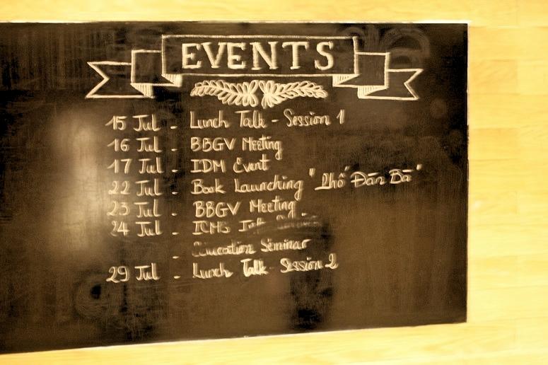 イベント告知の黒板