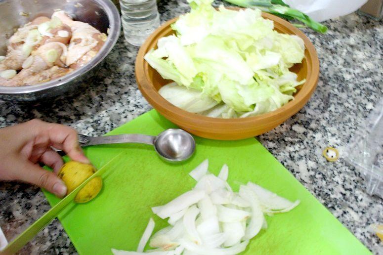 サラダの準備