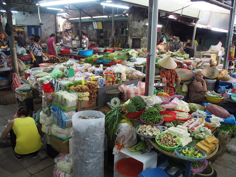 ハン市場の野菜売り場