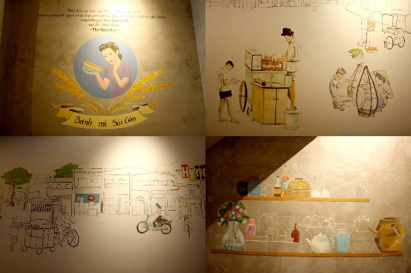 「Spice Ca phe Bistro」の壁のイラスト