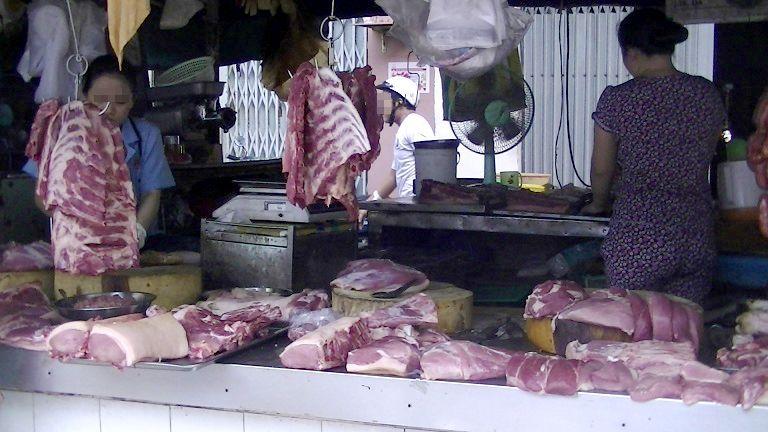 旧市場の肉屋