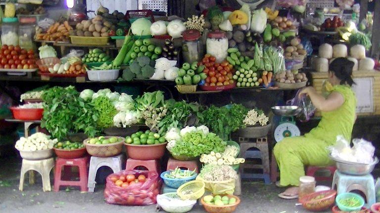 旧市場の野菜売り場