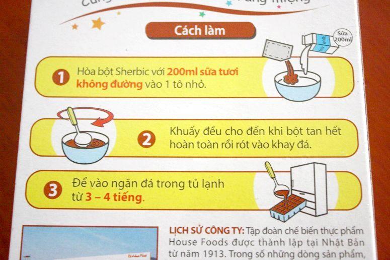 Sherbic vi Ca Phe Sua