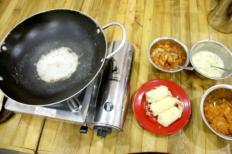 コンロと中華鍋