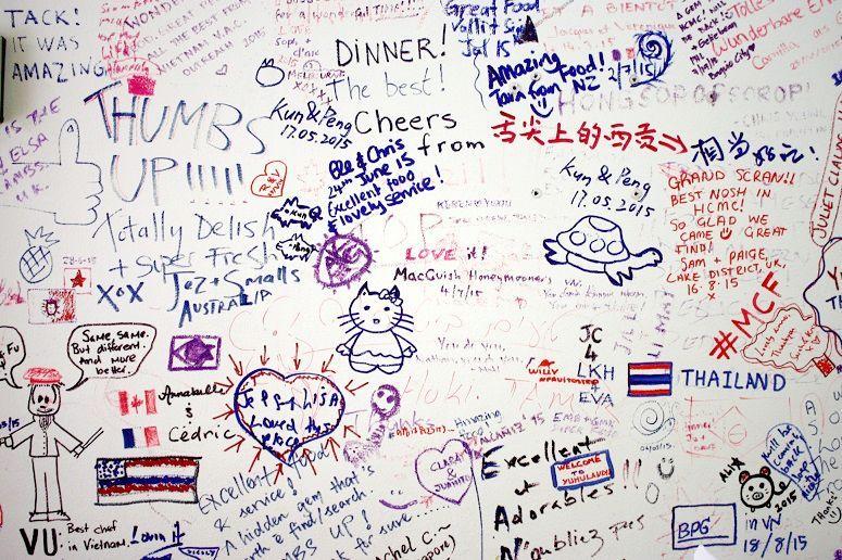 壁に残されたメッセージ