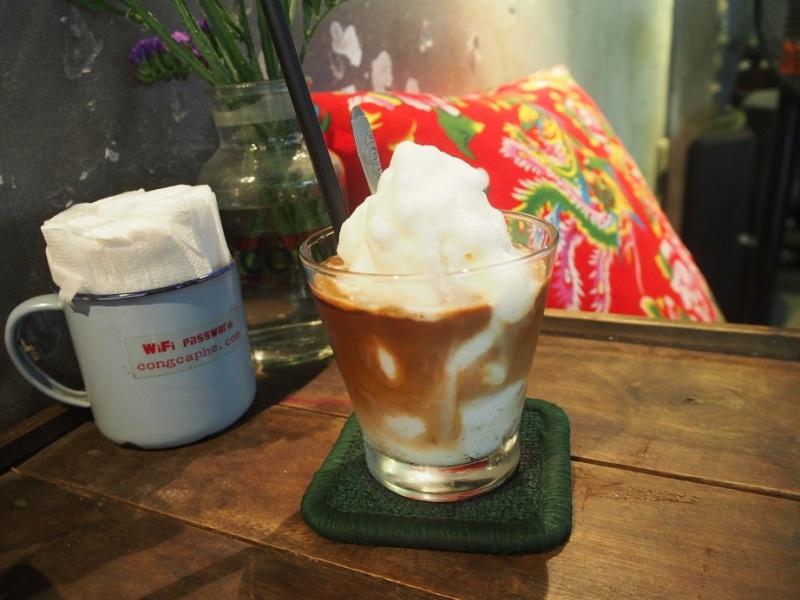 ベトナムコーヒーがけココナッツスムージー