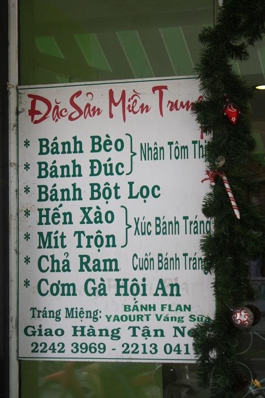 「Mi Quang Pho Thi」の看板