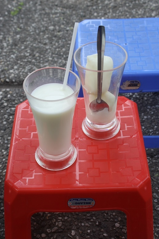 牛乳とフローズンヨーグルト