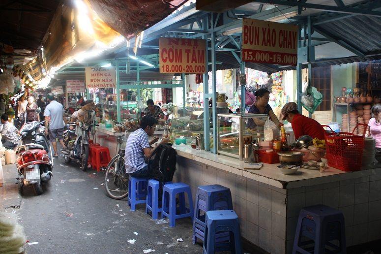 ティゲー市場の食堂