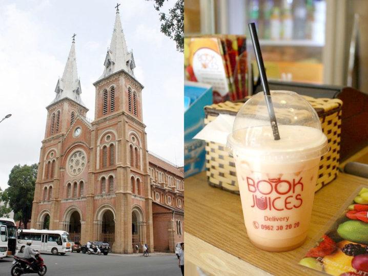 BOOK & JUICESとサイゴン大教会