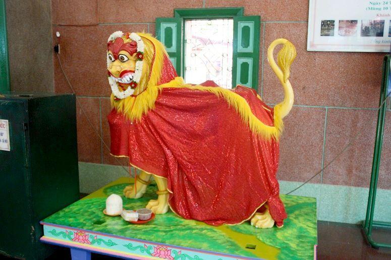 マリアマンの乗り物の獅子