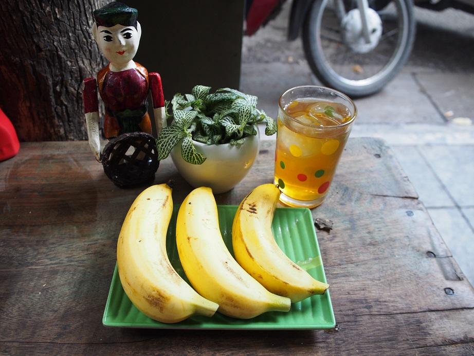 バナナと蓮茶