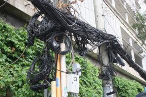 ベトナムの電線