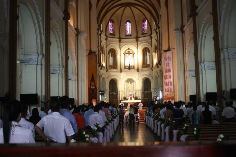 サイゴン大教会の内部