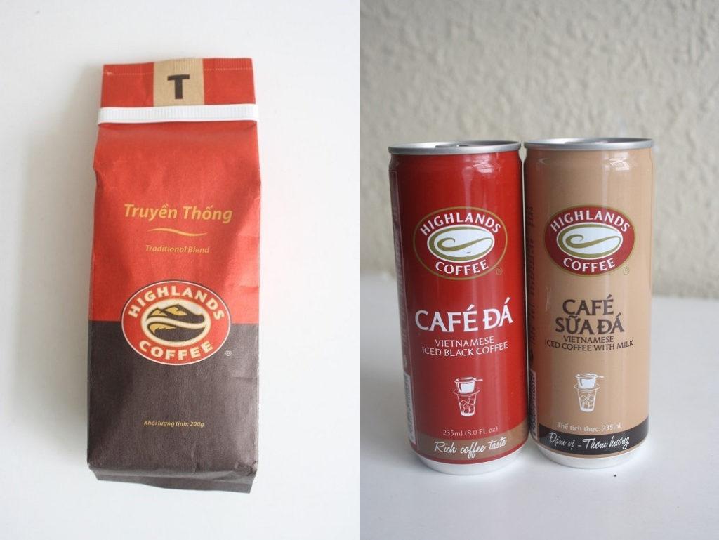 HIGHLANDS COFFEEのコーヒー豆と缶コーヒー