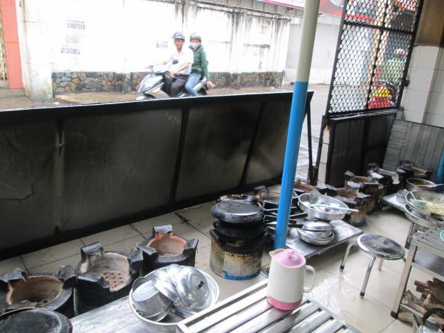 BANH XEO 46Aの調理場