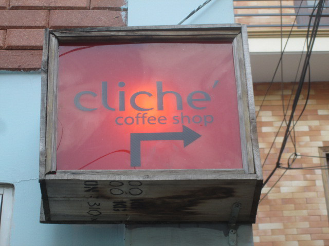 Cliché Coffeeの看板