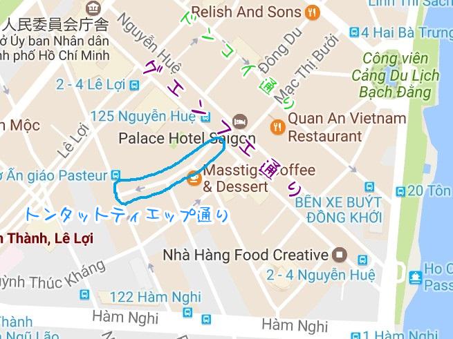 トンタットティエップ通りの地図