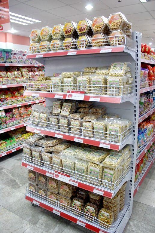 スーパーのナッツコーナー