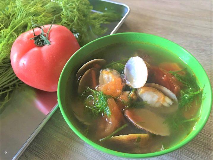 【レシピ付】ベトナム風☆あさりとディルとトマトのスープを作ろう♪