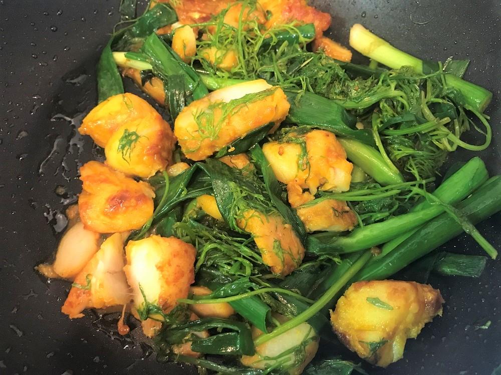 【レシピ付】簡単ver.チャーカーラヴォン(白身魚とディルの油鍋)on そうめん